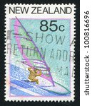 new zealand   circa 1987  stamp ... | Shutterstock . vector #100816696