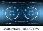 futuristic hud screen dashboard....