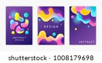 set of futuristic posters.... | Shutterstock .eps vector #1008179698