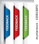 feedback labels and stickers on ... | Shutterstock .eps vector #100818892