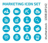 marketing icon set | Shutterstock .eps vector #1008189142