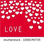 composition of hearts and... | Shutterstock .eps vector #1008190735