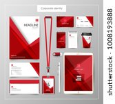 corporate identity template... | Shutterstock .eps vector #1008193888
