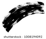 artistic freehand black paint ... | Shutterstock . vector #1008194092