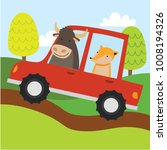 cute animal cartoon riding a... | Shutterstock .eps vector #1008194326