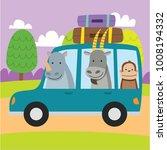 cute animal cartoon riding a... | Shutterstock .eps vector #1008194332