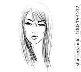 logo women face on white... | Shutterstock .eps vector #1008194542