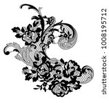 lace ornate element. vector... | Shutterstock .eps vector #1008195712