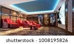 3d render of home theatre room | Shutterstock . vector #1008195826