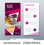 dl flyer design. pink template... | Shutterstock .eps vector #1008196462
