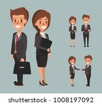 business man and business woman ... | Shutterstock .eps vector #1008197092