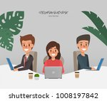 business people working in... | Shutterstock .eps vector #1008197842