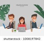 business people working in... | Shutterstock .eps vector #1008197842