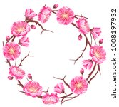 frame with sakura or cherry... | Shutterstock .eps vector #1008197932