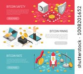bitcoin cryptocurrency secure... | Shutterstock .eps vector #1008201652