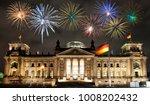 fireworks over berlin... | Shutterstock . vector #1008202432