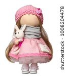 Rag Doll With A Rabbit Isolate...