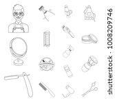 barbershop and equipment... | Shutterstock .eps vector #1008209746