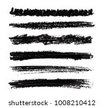 set of wax crayon strokes. hand ... | Shutterstock .eps vector #1008210412