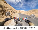 Small photo of Leh, India - June 18, 2017: Motorcycling the Srinagar Leh Highway, a high altitude road that traverses the great Himalayan range, Ladakh, India.