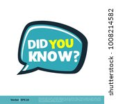 did you know  letter vector... | Shutterstock .eps vector #1008214582