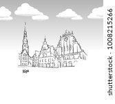riga  latvia famous landmark... | Shutterstock .eps vector #1008215266