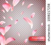 pink sakura falling petals... | Shutterstock .eps vector #1008217258