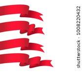 vector honorable satin ribbons. | Shutterstock .eps vector #1008220432