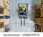 warehouse man worker with... | Shutterstock . vector #1008220972