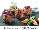 delicious meatballs with cheese ... | Shutterstock . vector #1008223675