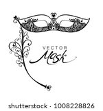 beautiful lace masquerade mask... | Shutterstock .eps vector #1008228826