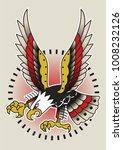 vector american eagle... | Shutterstock .eps vector #1008232126