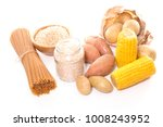 food rich in carbohydrate | Shutterstock . vector #1008243952