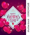 valentines day party flyer with ... | Shutterstock .eps vector #1008244168