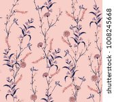 trendy  floral pattern in the... | Shutterstock .eps vector #1008245668