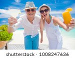 happy young couple in white... | Shutterstock . vector #1008247636
