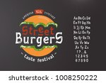 font street burger. vintage... | Shutterstock .eps vector #1008250222