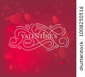 happy valentines day ... | Shutterstock .eps vector #1008250516