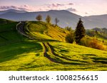 countryside with grassy slopes... | Shutterstock . vector #1008256615