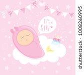 Baby Girl Shower Sleeping On...