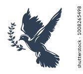 dove bird carrying olive branch ... | Shutterstock .eps vector #1008265498