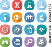 flat vector icon set   virus... | Shutterstock .eps vector #1008268972