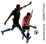 two soccer players men in... | Shutterstock . vector #1008271162
