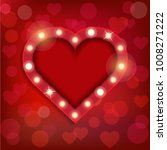 vector shiny heart frame for ... | Shutterstock .eps vector #1008271222