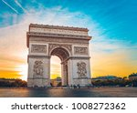 view of the arch of triumph in... | Shutterstock . vector #1008272362
