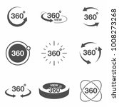 360 degree view related icon... | Shutterstock .eps vector #1008273268