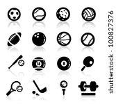 Sports Icons Set Elegant Series
