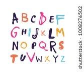 vector unique lettering font ... | Shutterstock .eps vector #1008276502