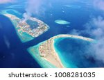 aerial view of the lagoon of... | Shutterstock . vector #1008281035