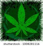 cannabis or marijuana green... | Shutterstock .eps vector #1008281116